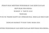 Permendikbud Nomor 8 Tahun 2020 Tentang Juknis BOS Tahun 2020