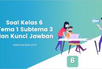 Soal Kelas 6 Tema 1 Subtema 3 dan Kunci Jawaban