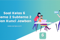 Soal Kelas 6 Tema 2 Subtema 2 dan Kunci Jawaban