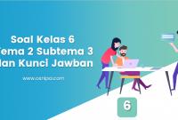 Soal Kelas 6 Tema 2 Subtema 3 dan Kunci Jawaban