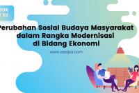 Perubahan Sosial Budaya Masyarakat : BDR Kelas 6 SD