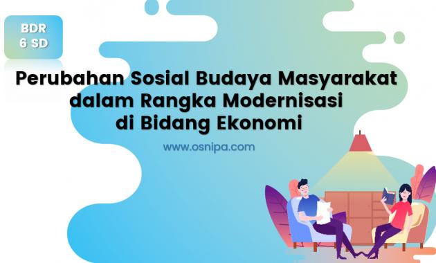 Perubahan Sosial Budaya Masyarakat