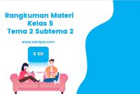 Rangkuman Materi Kelas 5 Tema 2 Subtema 2
