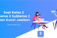 Soal Kelas 2 Tema 3 Subtema 2 dan Kunci Jawaban