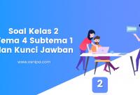 Soal Kelas 2 Tema 4 Subtema 1 dan Kunci Jawaban