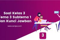 Soal Kelas 3 Tema 3 Subtema 1 dan Kunci Jawaban