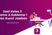 Soal Kelas 3 Tema 4 Subtema 1 dan Kunci Jawaban