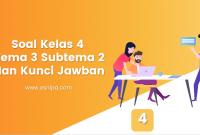 Soal Kelas 4 Tema 3 Subtema 2 dan Kunci Jawaban
