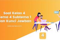 Soal Kelas 4 Tema 4 Subtema 1 dan Kunci Jawaban