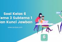 Soal Kelas 6 Tema 3 Subtema 1 dan Kunci Jawaban