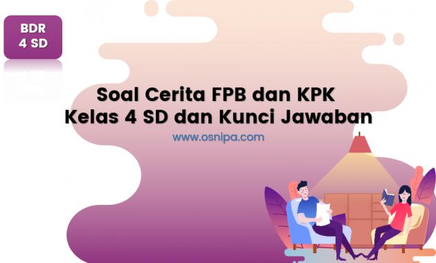 Soal Cerita KPK dan FPB Kelas 4 SD