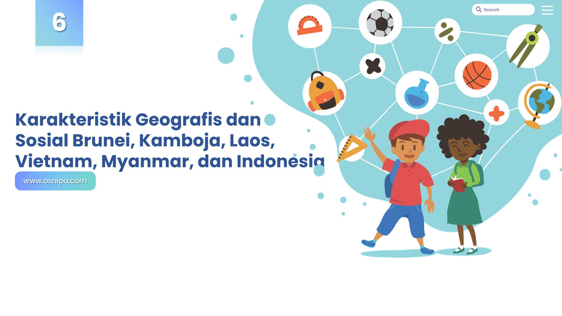 Karakteristik Geografis dan Sosial Brunei, Kamboja, Laos, Vietnam, Myanmar, dan Indonesia