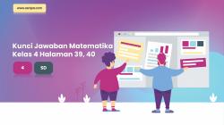 Kunci Jawaban Senang Belajar Kelas 4 Matematika Halaman 39, 40