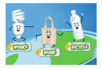 Gunakanlah gambar tersebut untuk dijadikan materi mengenai pengelolaah sampah, dan  mengapa yang awalnya menggunakan 4R sekarang menjadi 3R yakni Remove tidak digunakan!