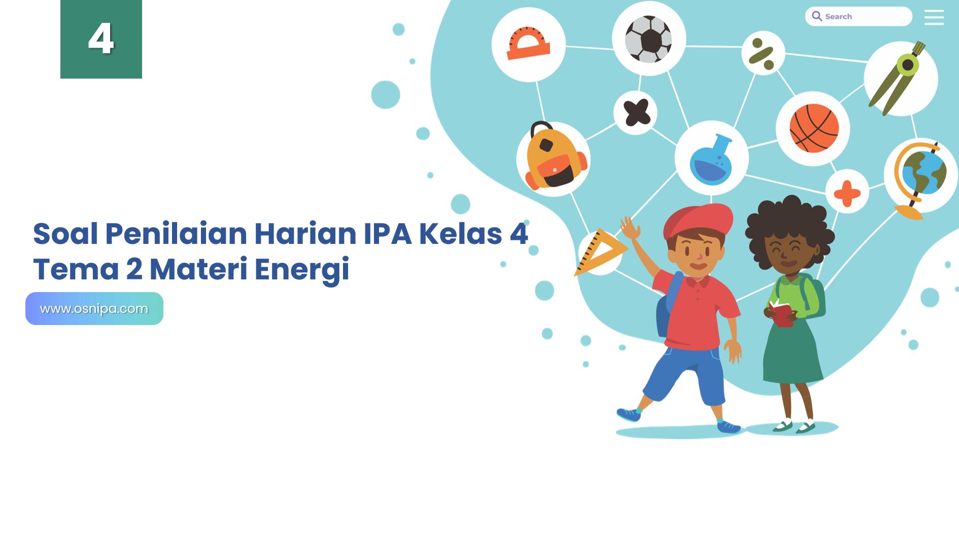 Soal Penilaian Harian IPA Kelas 4 Tema 2 Materi Energi
