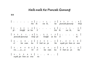 Pada gambar ditunjukkan notasi angka.