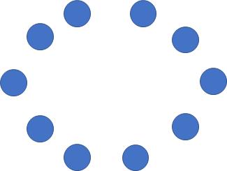 Gambar pola lantai lingkaran