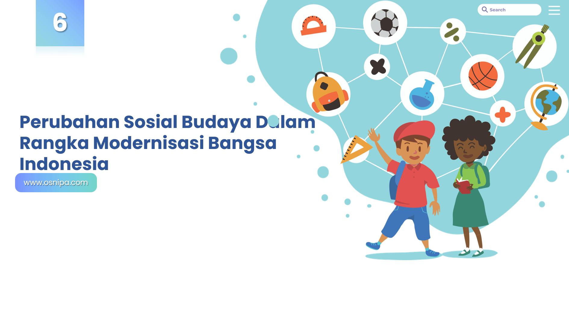 Perubahan Sosial Budaya Dalam Rangka Modernisasi Bangsa Indonesia