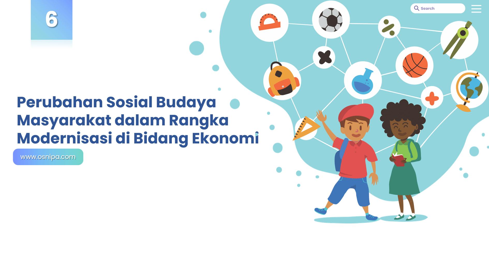 Perubahan Sosial Budaya Masyarakat dalam Rangka Modernisasi di Bidang Ekonomi