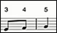 9. Interval nada pada notasi angka berikut adalah ….