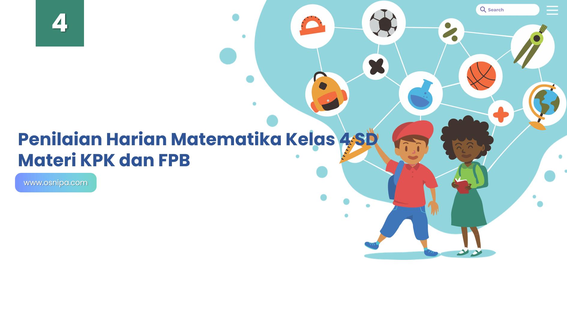 Penilaian Harian Matematika Kelas 4 SD Materi KPK dan FPB