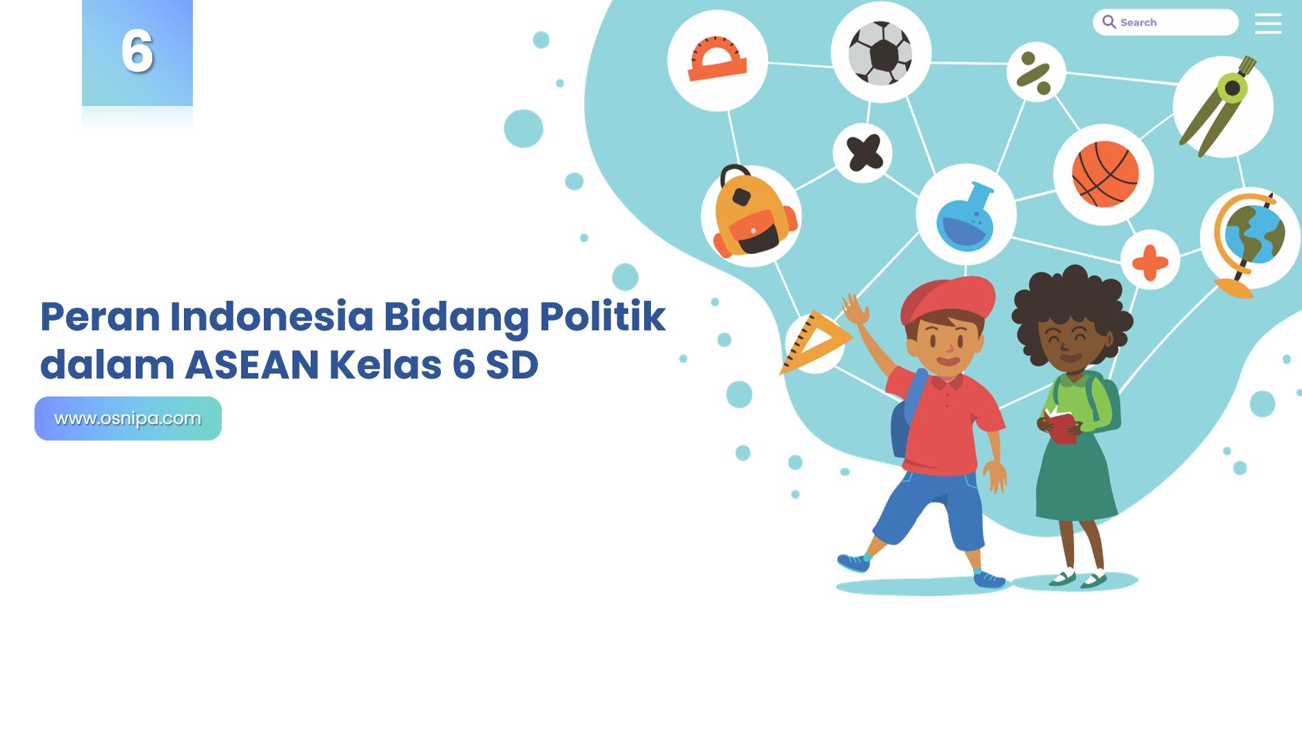 Peran Indonesia Bidang Politik dalam ASEAN Kelas 6 SD